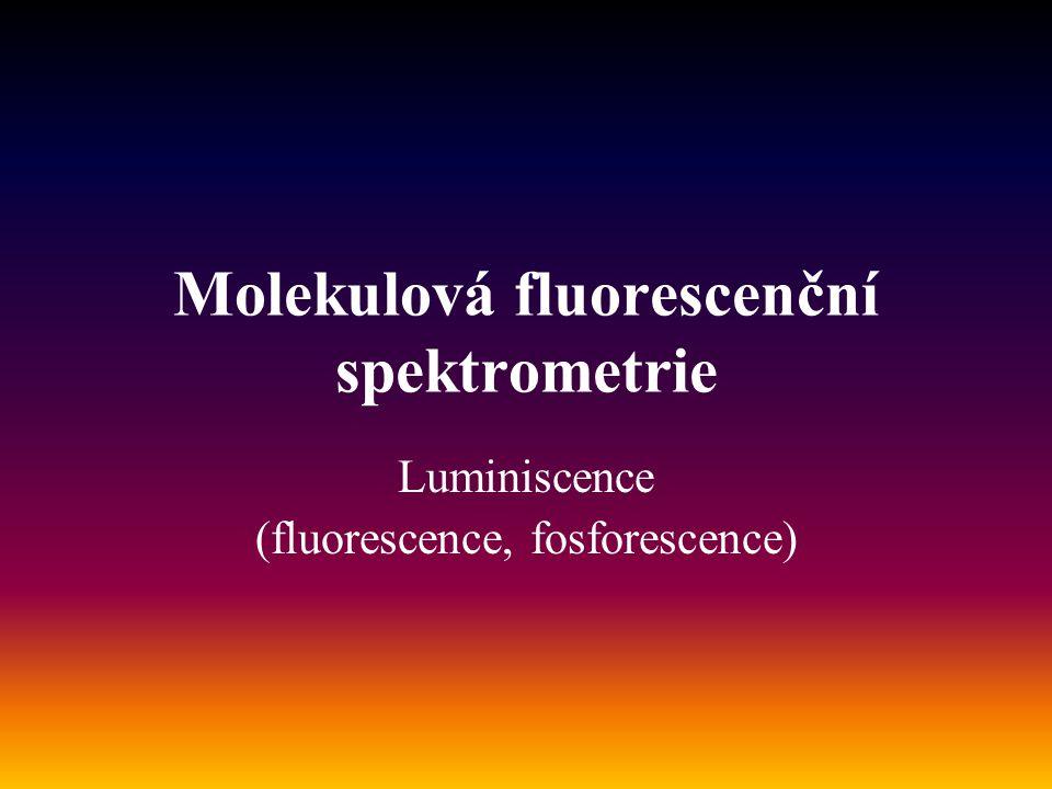 Molekulová fluorescenční spektrometrie