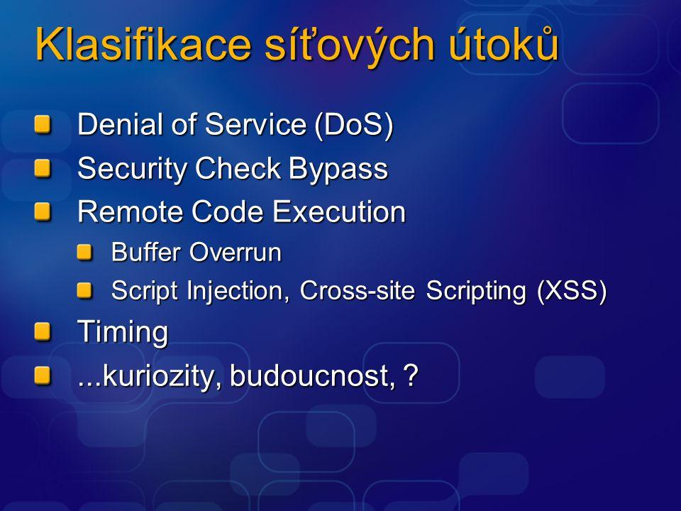 Klasifikace síťových útoků