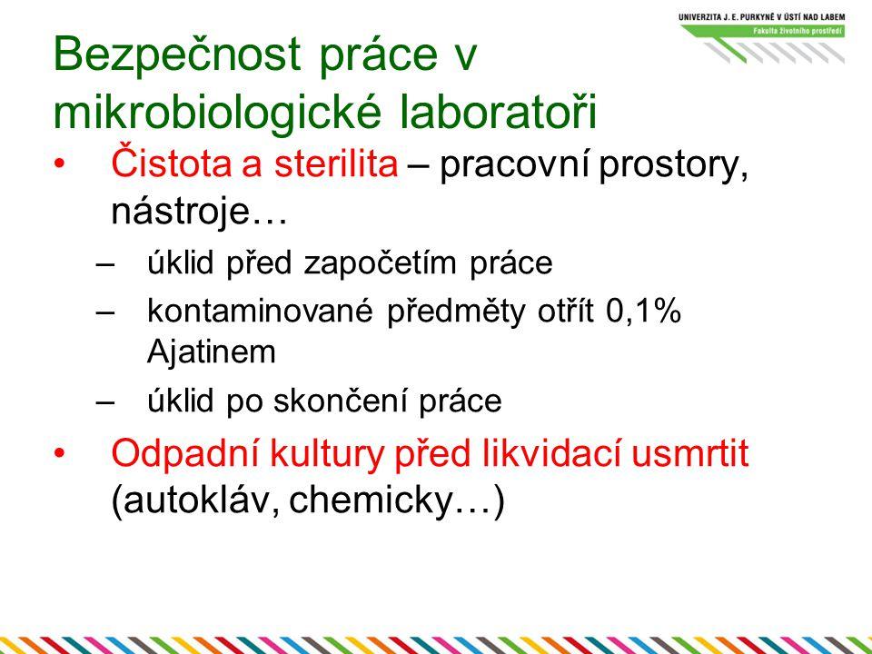 Bezpečnost práce v mikrobiologické laboratoři