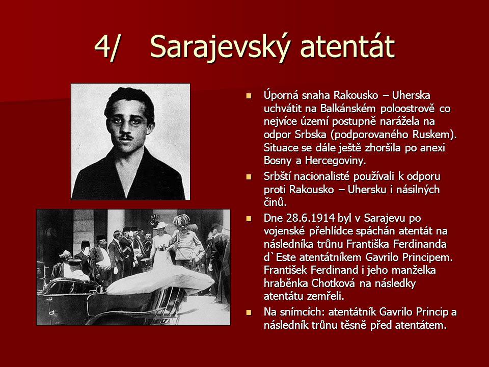 4/ Sarajevský atentát