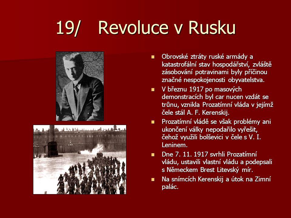 19/ Revoluce v Rusku