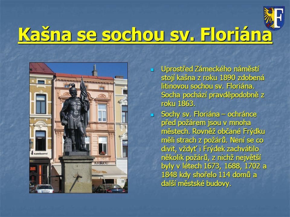 Kašna se sochou sv. Floriána