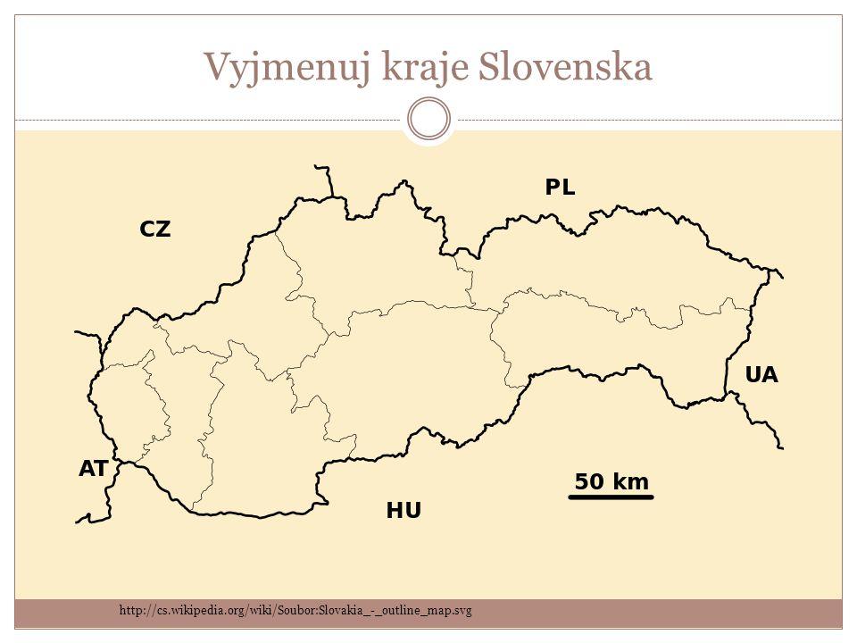 Vyjmenuj kraje Slovenska