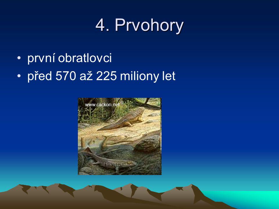 4. Prvohory první obratlovci před 570 až 225 miliony let