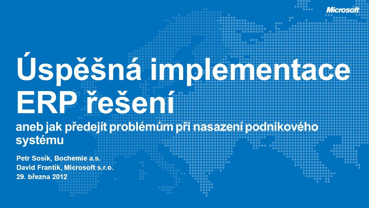 Úspěšná implementace ERP řešení