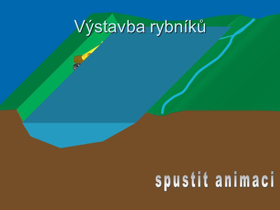 Výstavba rybníků spustit animaci