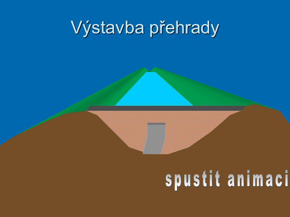 Výstavba přehrady spustit animaci