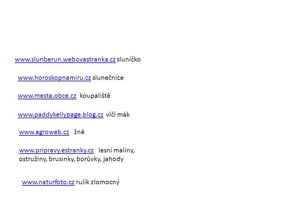 www.slunberun.webovastranka.cz sluníčko