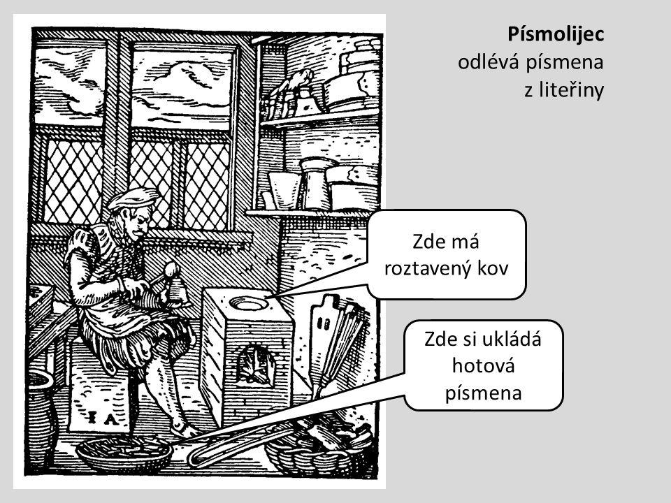Písmolijec odlévá písmena z liteřiny