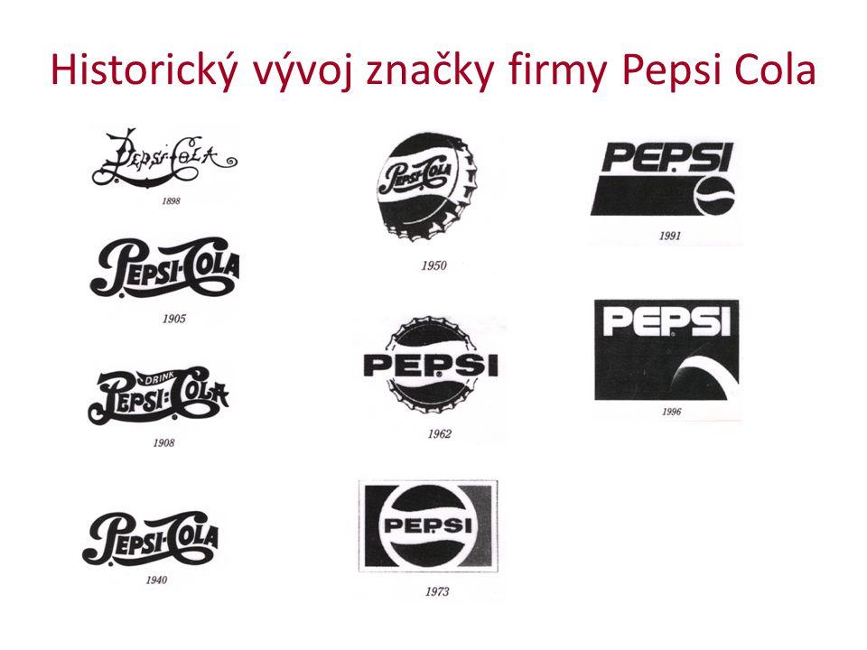 Historický vývoj značky firmy Pepsi Cola