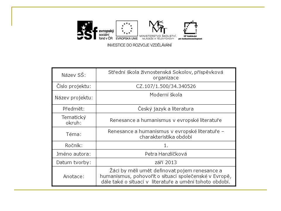 Střední škola živnostenská Sokolov, příspěvková organizace