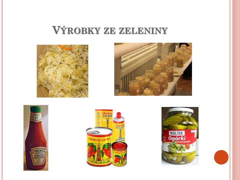 Výrobky ze zeleniny