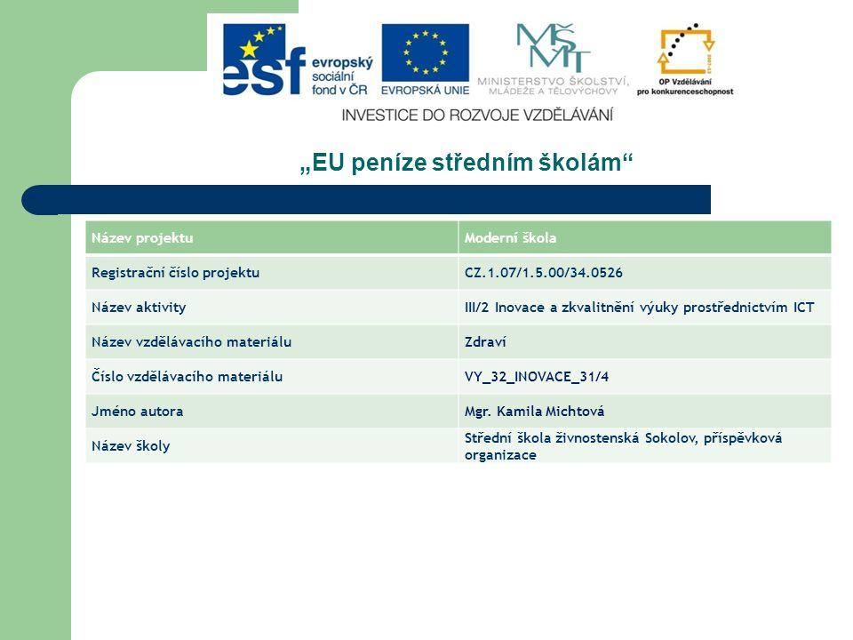 """""""EU peníze středním školám"""