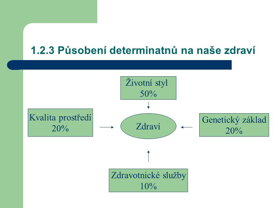 1.2.3 Působení determinatnů na naše zdraví