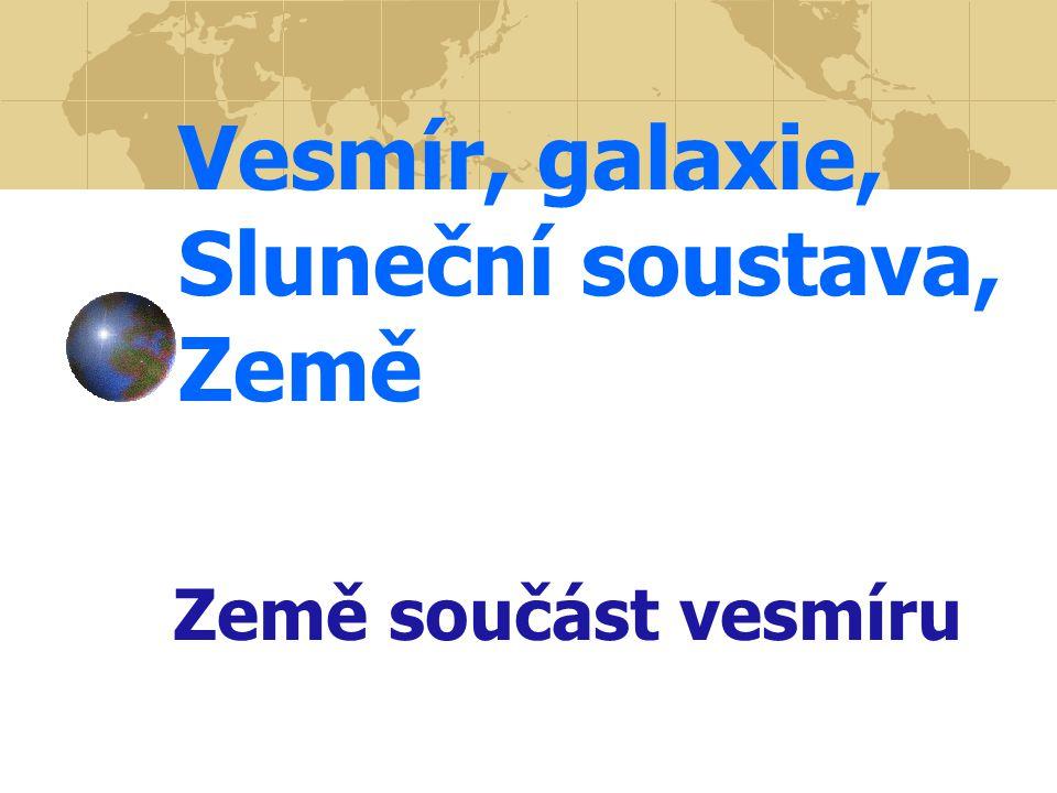 Vesmír, galaxie, Sluneční soustava, Země