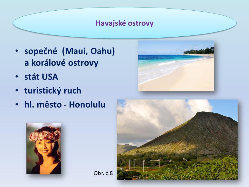 sopečné (Maui, Oahu) a korálové ostrovy stát USA turistický ruch