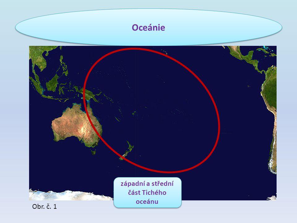 západní a střední část Tichého oceánu