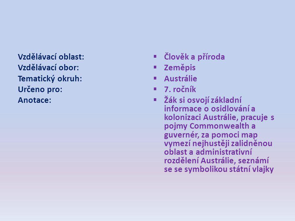 Vzdělávací oblast: Vzdělávací obor: Tematický okruh: Určeno pro: Anotace: