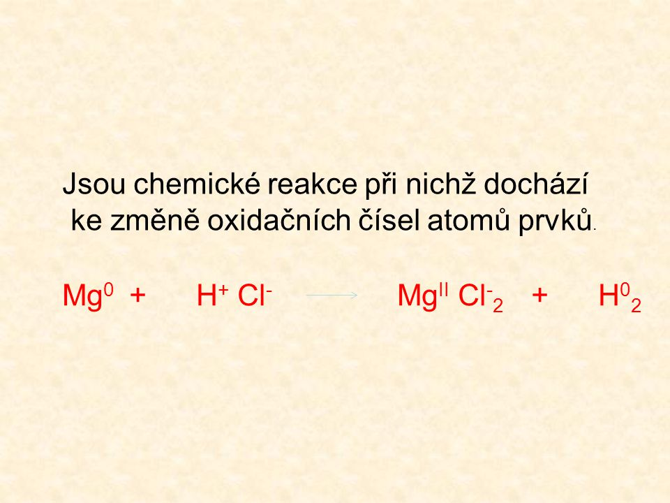 Jsou chemické reakce při nichž dochází