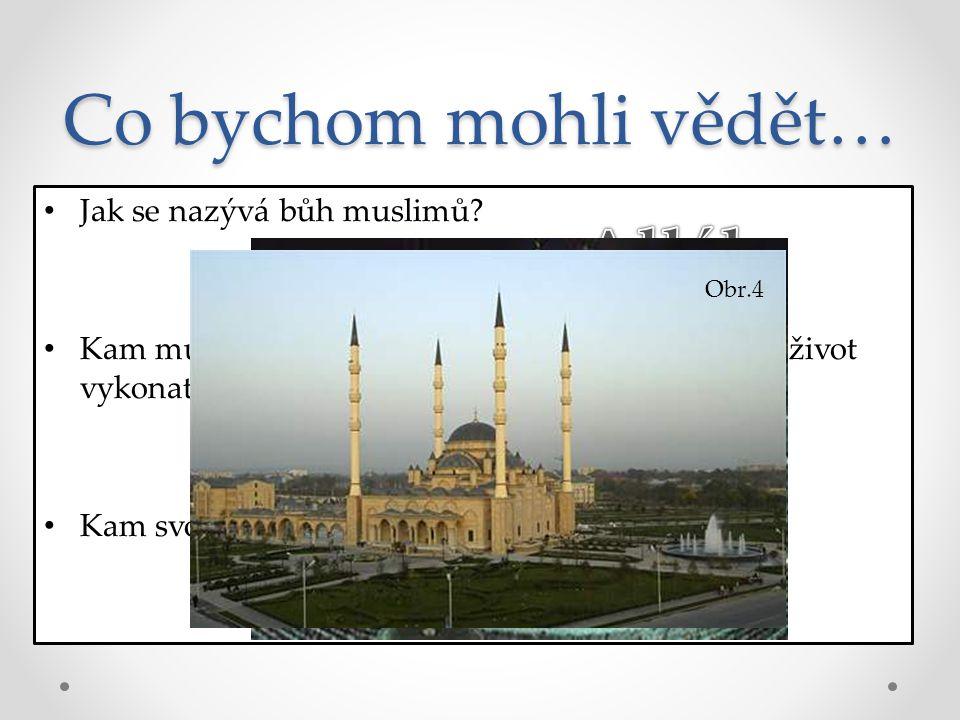 Co bychom mohli vědět… Alláh Mekka Mešita Jak se nazývá bůh muslimů