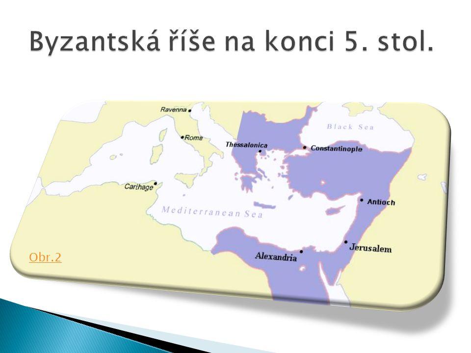 Byzantská říše na konci 5. stol.