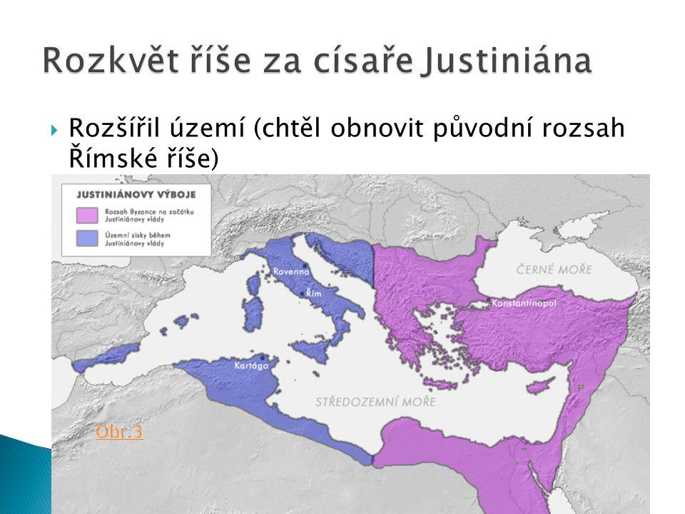 Rozkvět říše za císaře Justiniána
