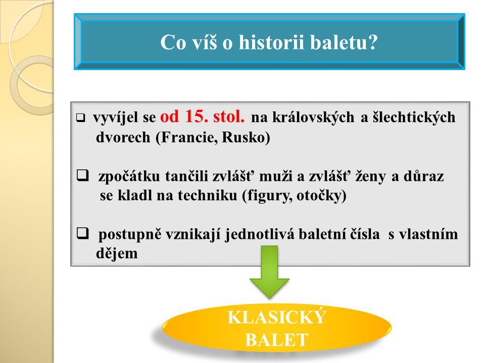 Co víš o historii baletu