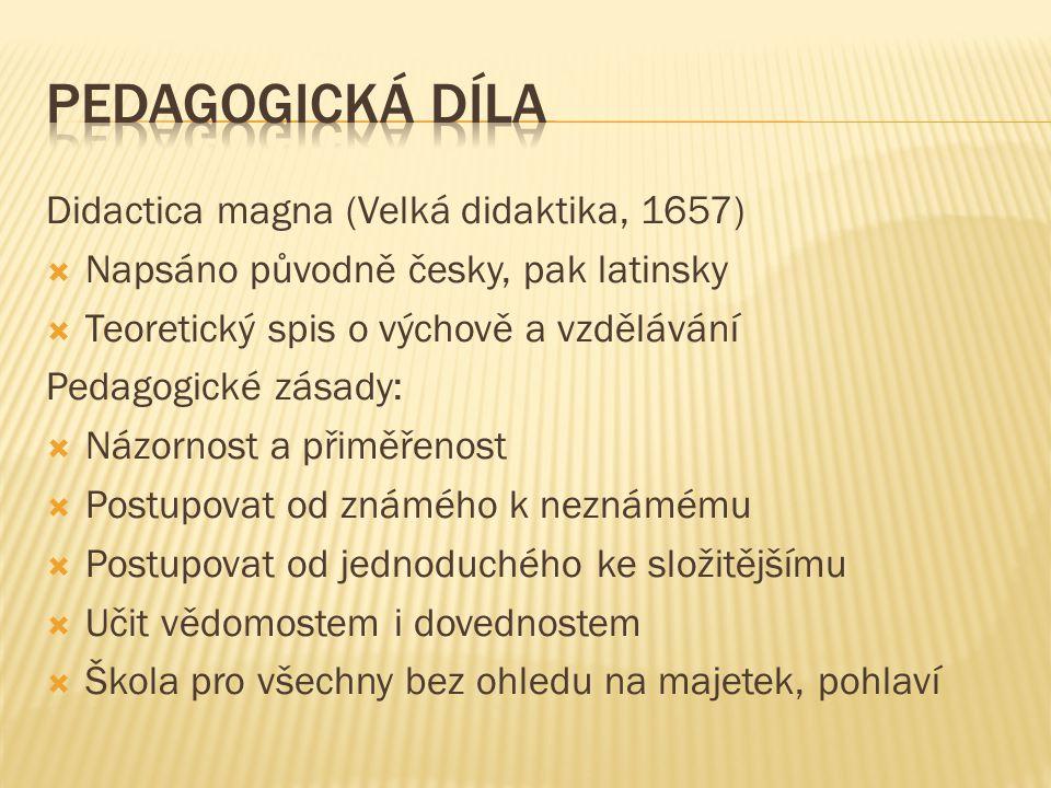 Pedagogická díla Didactica magna (Velká didaktika, 1657)