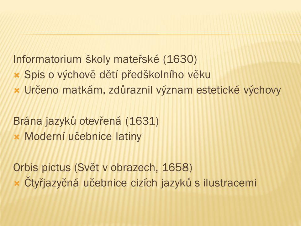 Informatorium školy mateřské (1630)