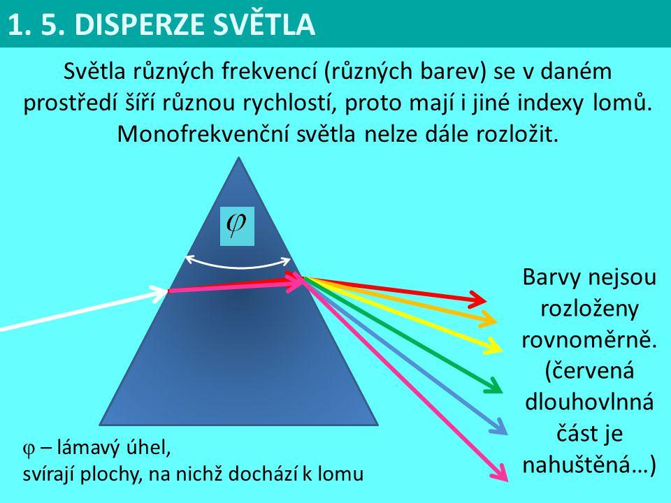 Monofrekvenční světla nelze dále rozložit.