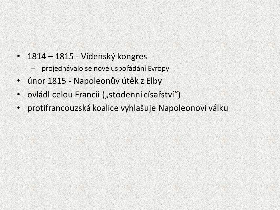 únor 1815 - Napoleonův útěk z Elby