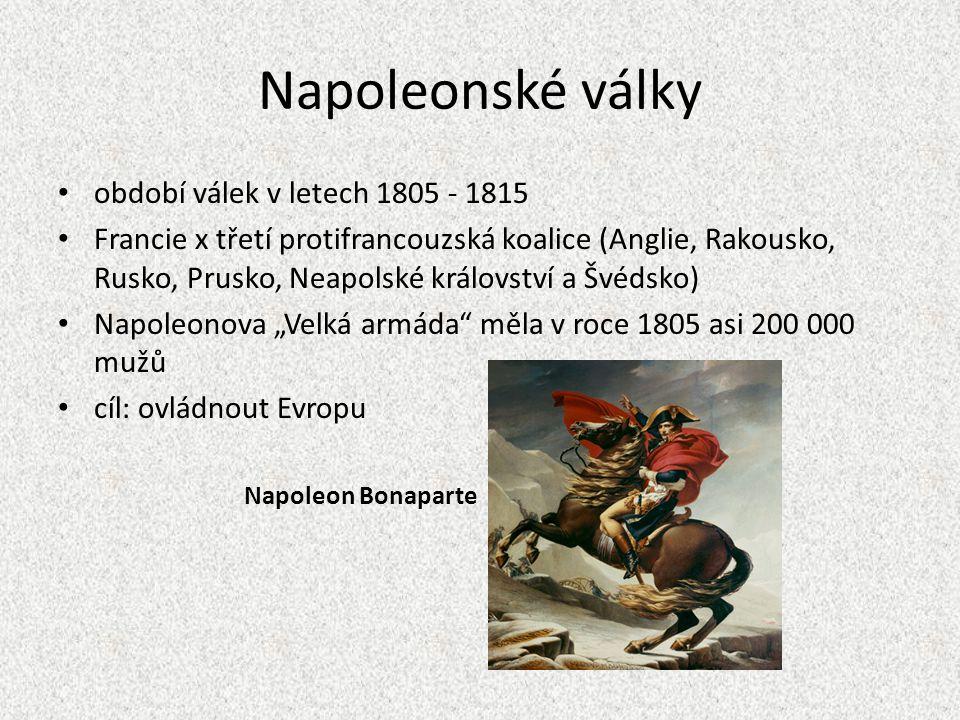 Napoleonské války období válek v letech 1805 - 1815