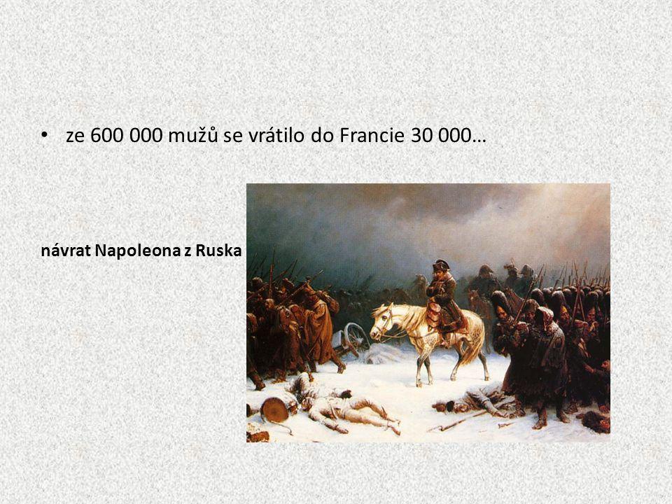 ze 600 000 mužů se vrátilo do Francie 30 000…