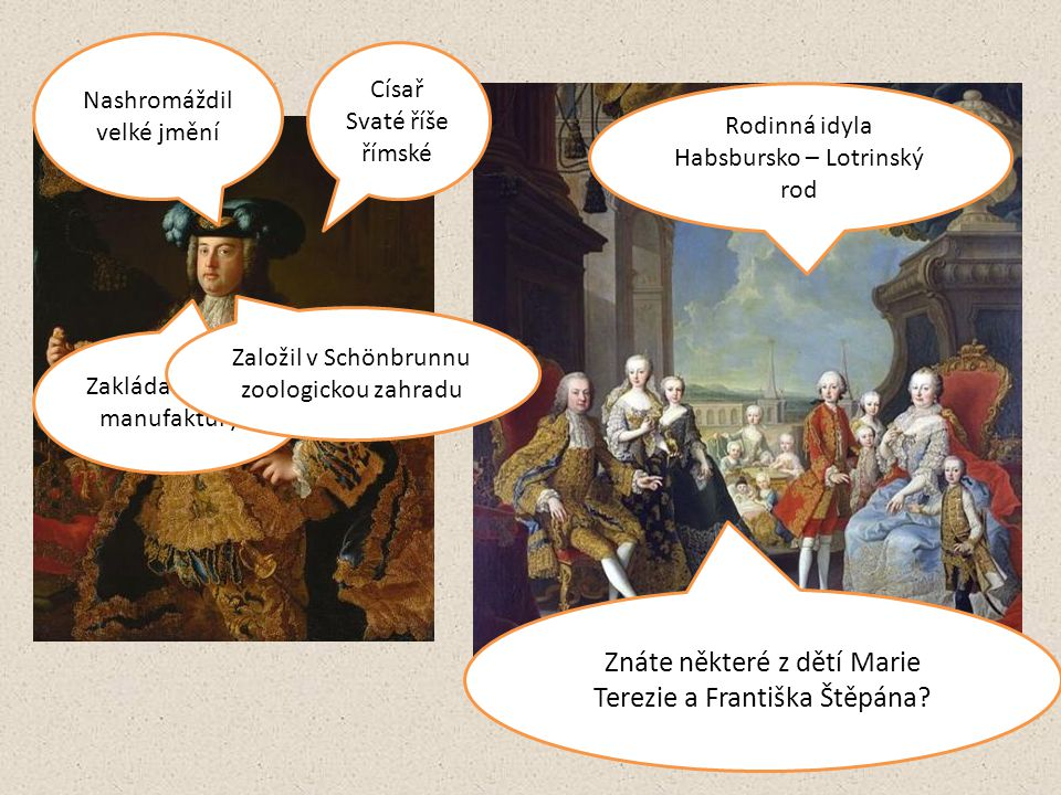 Znáte některé z dětí Marie Terezie a Františka Štěpána