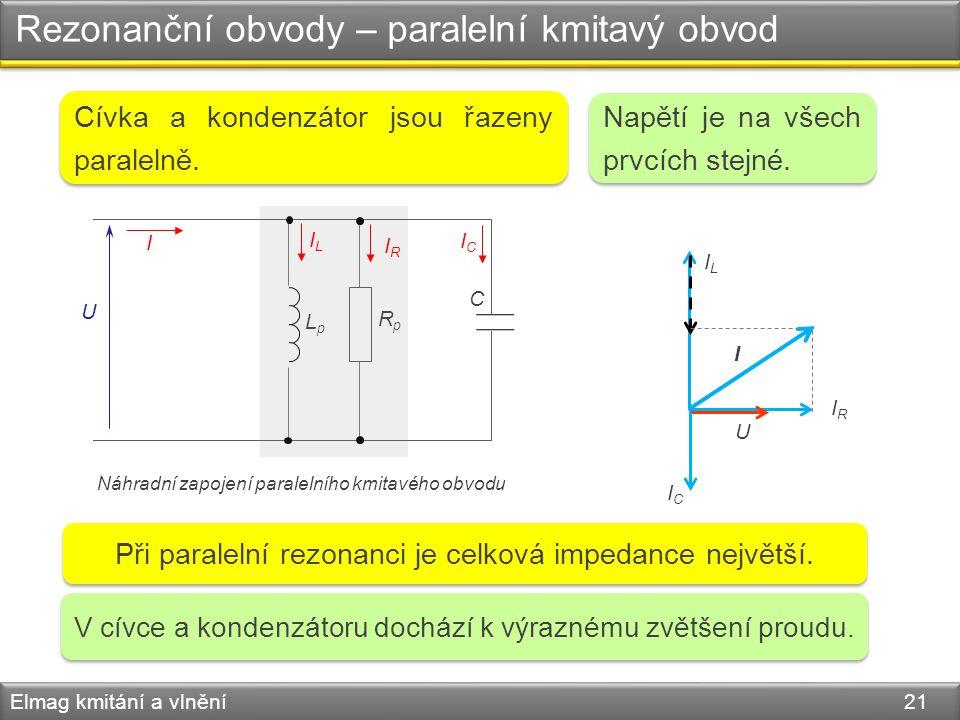 Rezonanční obvody – paralelní kmitavý obvod