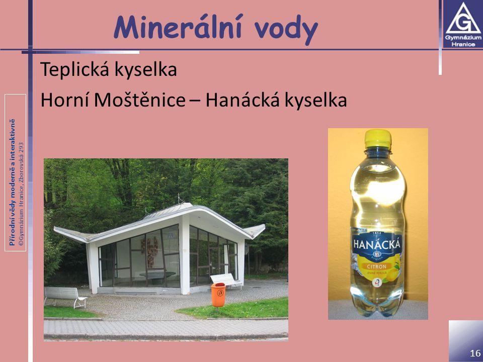 Minerální vody Teplická kyselka Horní Moštěnice – Hanácká kyselka