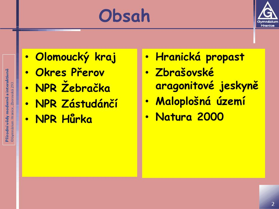 Obsah Olomoucký kraj Okres Přerov NPR Žebračka NPR Zástudánčí