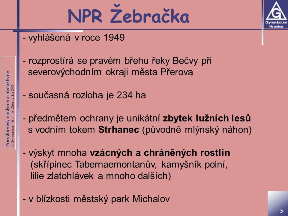 NPR Žebračka - vyhlášená v roce 1949