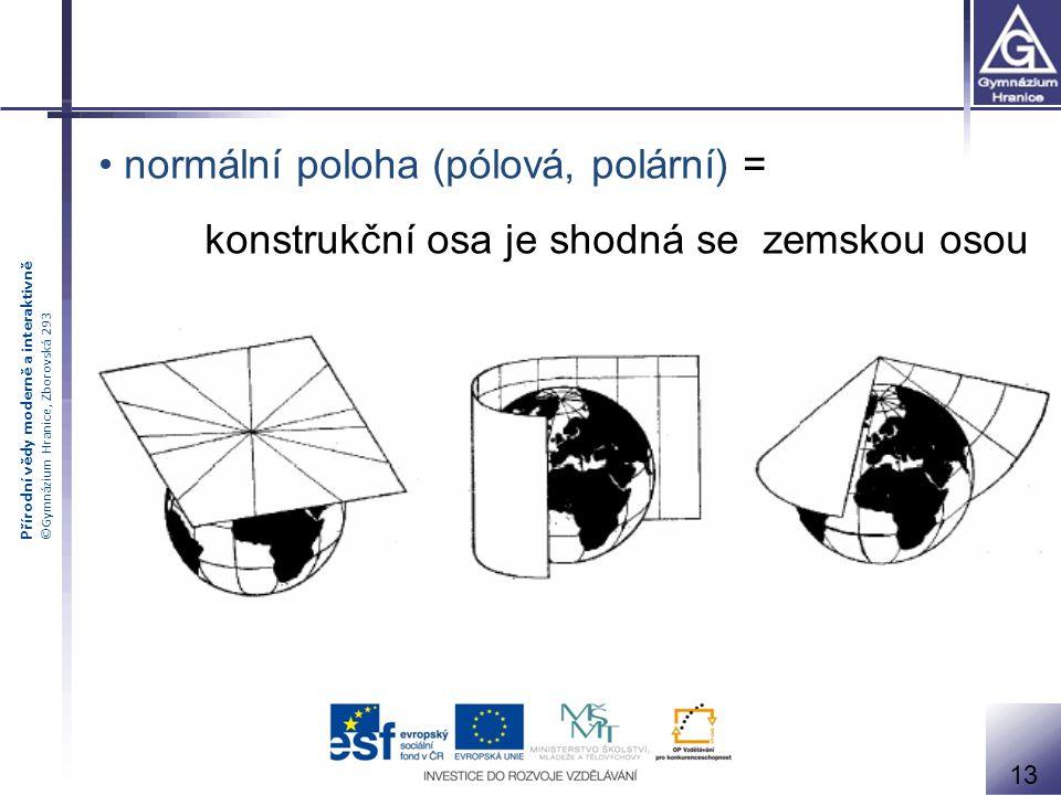 normální poloha (pólová, polární) =