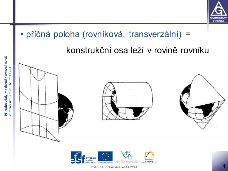 příčná poloha (rovníková, transverzální) =