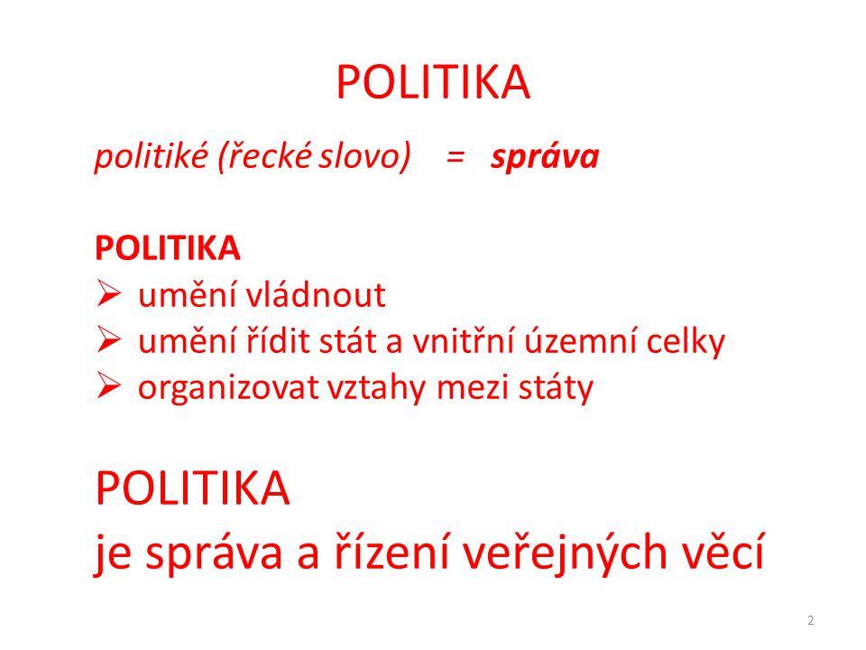 je správa a řízení veřejných věcí