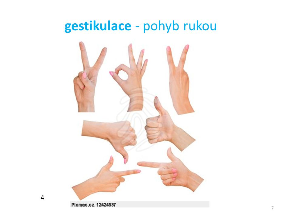 gestikulace - pohyb rukou
