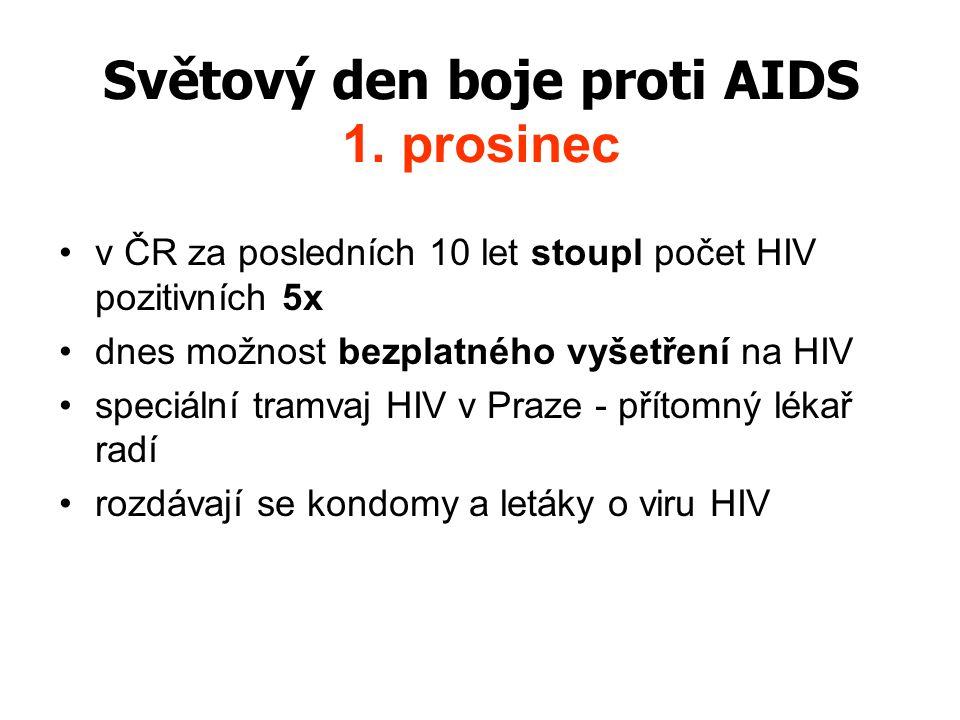 Světový den boje proti AIDS 1. prosinec