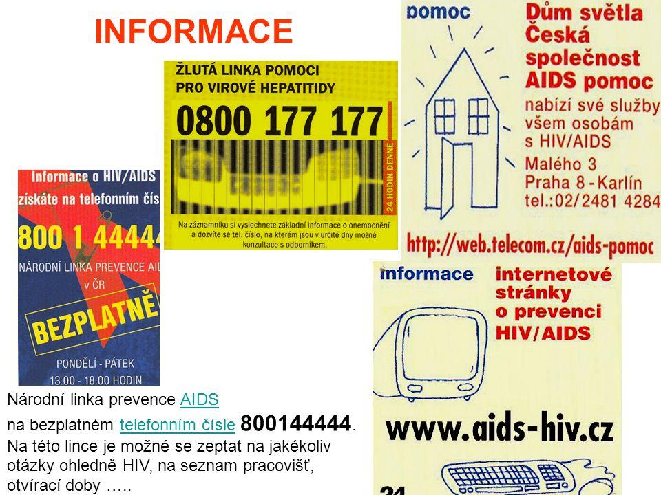 INFORMACE Národní linka prevence AIDS