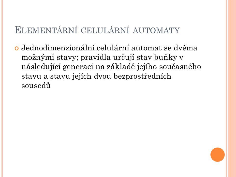 Elementární celulární automaty