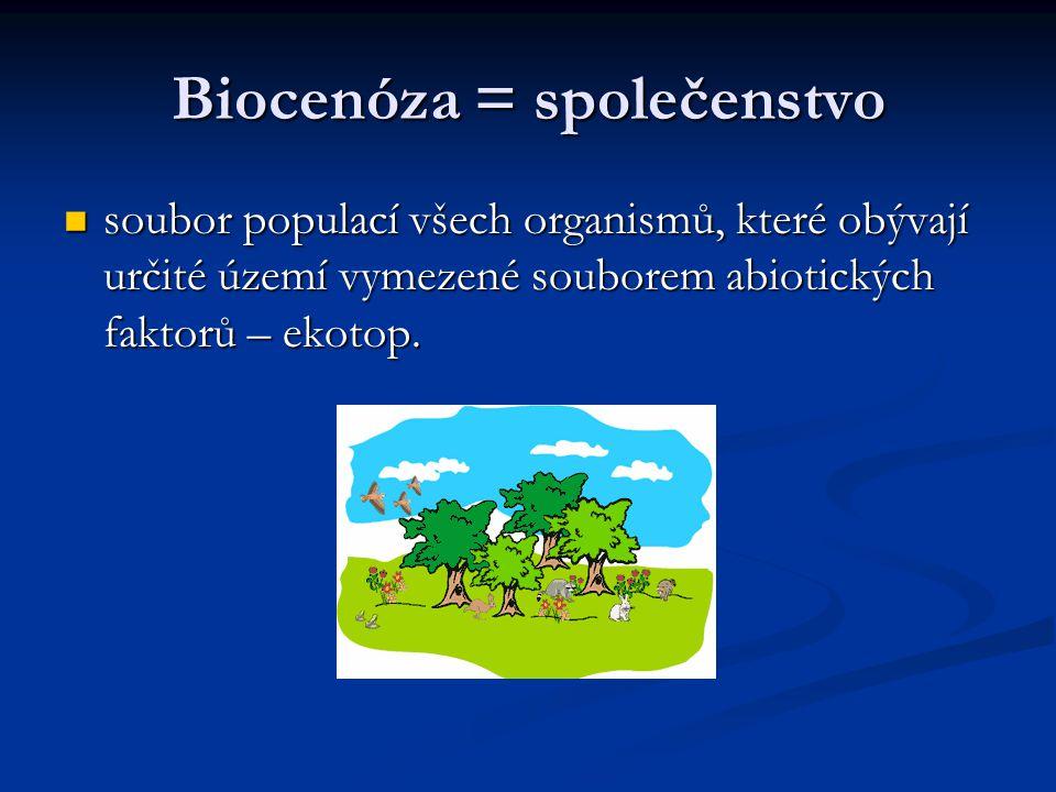 Biocenóza = společenstvo