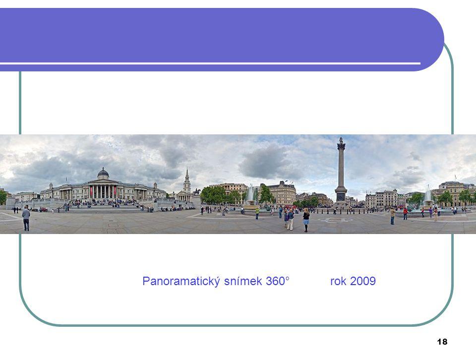 Panoramatický snímek 360° rok 2009
