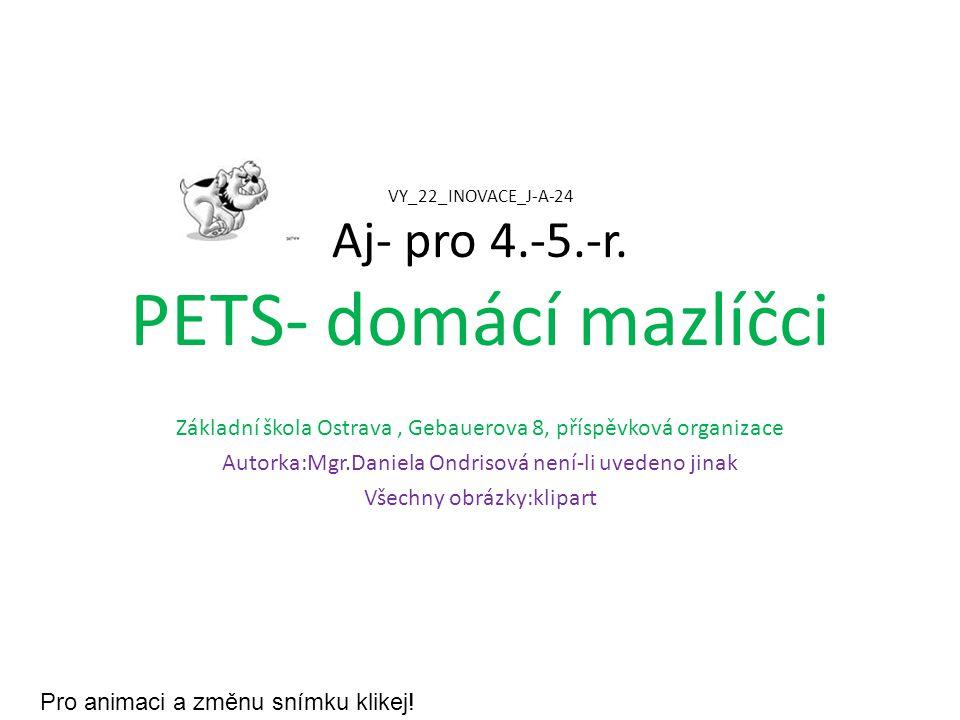 VY_22_INOVACE_J-A-24 Aj- pro 4.-5.-r. PETS- domácí mazlíčci