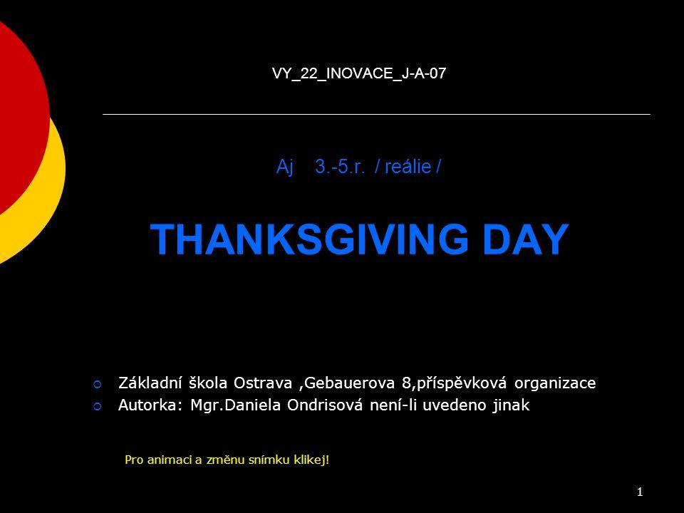 Anglický jazyk pro 4. -5. ročník reálie VY_22_INOVACE_J-A-07 Aj 3. -5