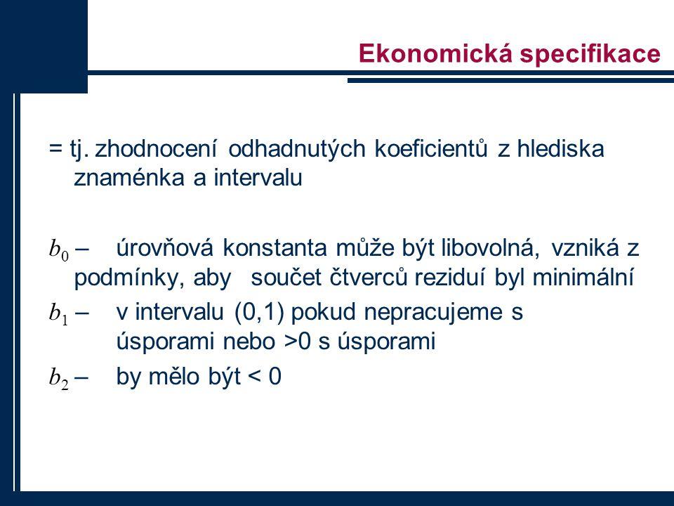 Ekonomická specifikace